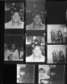 Set of negatives by Clinton Wright including a political party, beauticians, and Highland's campaign, 1968