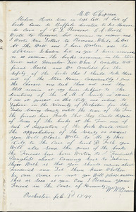 Letter from William Wells Brown, Rochester, [NY], to Maria Weston Chapman, Feb. 3'd, 1844
