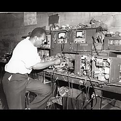 Radio? repairman at work