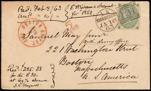 Letter from Eliza Wigham, Edinburgh, to Samuel May, 16.1.63