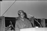Gwendolyn Brooks was an American poet, author, and teacher, the first African American to win the Pulitzer prize. Brooks visited IWU five times between 1972 and 1999. Brooks giving a reading.