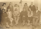 African American faculty at Jimmie Lowes's Kindergarten and Adult School on West Jeff Davis Avenue in Montgomery, Alabama.