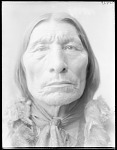 Front view of Chief Wolf Robe. Oklahoma. U.S. Government Indian school 1904