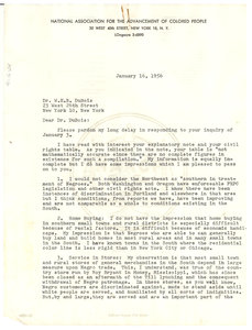 Letter from N.A.A.C.P. to W. E. B. Du Bois