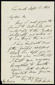 Letter from Franklin Benjamin Sanborn, Concord, to William Lloyd Garrison, Sept. 5, 1866
