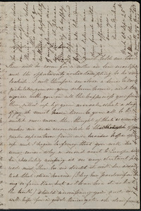Letter from Emma Michell, Park St., [Bristol, England], to Miss Weston, Sept. 25th, [1852?]
