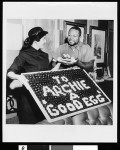 Archie Moore and unidentified woman, Los Angeles, ca. 1951-1960