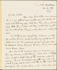Letter from Jonathan Edward Woodbridge, Worcester, [Massachusetts], to Amos Augustus Phelps, 1837 Dec[ember] 14