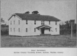 Boys' dormitory Galilee County training school, Galilee, Walker County