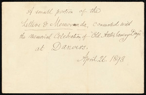 Envelope from Samuel May, April 26, 1893