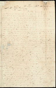 Letter from Henry Egbert Benson, Providence, R.I., to William Lloyd Garrison, Aug. 30th, 1833