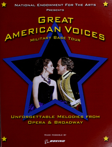 Great American voices military base tour unforgettable melodies from opera & Broadway