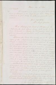 Letter from William Lloyd Garrison, Boston, [Mass.], to John Harfield Tredgold, Jan. 29th, 1841