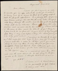 Letter from Anne Warren Weston, Weymouth, [Mass.], to Deborah Weston, Nov. 5, 1838