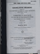 H.R. 1606 and H.R. 2388 : legislative hearing before the Subcommittee on National Parks, Recreation, and Public Lands of the Committee on Resources, U.S. House of Representatives, One Hundred Seventh Congress, first session, November 1, 2001
