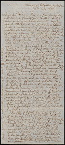 Letter from Richard Davis Webb, Dublin, to Samuel May, 16th July 1860
