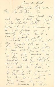 Letter from George C. Merriam to W. E. B. Du Bois