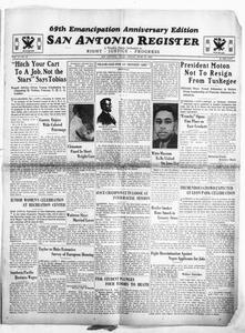 San Antonio Register (San Antonio, Tex.), Vol. 4, No. 10, Ed. 1 Friday, June 15, 1934