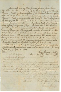 Deed of slave Lucy to Emily Grimes