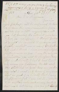 Charles Plummer Tidd autograph letter to Thomas Wentworth Higginson, 18 December 1859