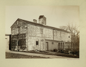 Exterior view of the Slave Quarters, Royall House, Medford, Mass., undated