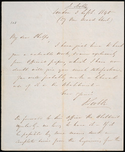 Letter from John Scoble, London, to Amos Augustus Phelps, 3 Sept: 1840