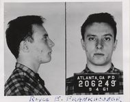 Mississippi State Sovereignty Commission photograph of Royce E. Frankhouser following his arrest in Atlanta, Georgia, 1961 September 4