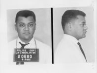 Mississippi State Sovereignty Commission photograph of Reverend James M. Lawson following his arrest for his participation in the Freedom Rides, Jackson, Mississippi, 1961 May 24