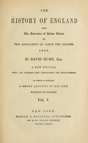 The history of England from the invasion of Julius Caesar to the abdication of James the Second, 1688, v.5