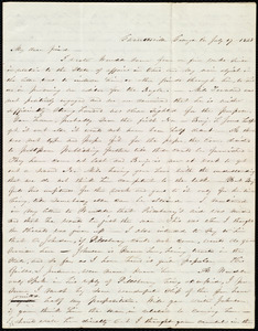 Letter from Abby Kelley Foster, Garrettsville, [Ohio], Grange Co, to Maria Weston Chapman, July 17, 1845