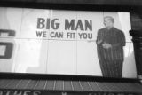 "Jasper Wood Collection: ""Big Man We Can Fit You"" sign"