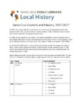 Santa Cruz Councils and Mayors