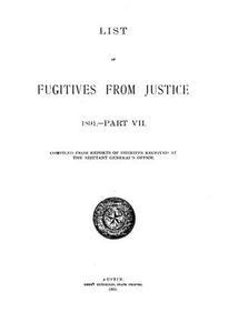 List of Fugitives From Justice: 1891.-- Part VII
