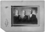 First Secretarial Staff of First Black YMCA in New York City. (Left to Right): John H.E. Elmendorf, Assistant Secretary ; Thomas J. Bell, Branch Secretary (Colored Men's Branch); Abraham B. Green, Janitor. February 18, 1911 (1901?)