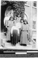 Group portrait of five Maryknoll Sisters and four Korean girls at Maryknoll convent, Yeng You, Korea, June 1938