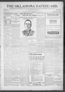 The Oklahoma Safeguard. (Guthrie, Okla.), Vol. 12, No. 51, Ed. 1 Thursday, January 25, 1906