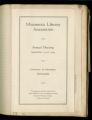 1924 Minnesota Library Association annual conference program, Minneapolis, Minnesota