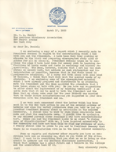 Letter from Ira H. Latimer to W. A. Daniel