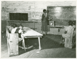 Interior of school on Mileston Plantation; School begins very late in the year and attendance is poor until December because the children pick cotton, Mileston, Mississippi Delta, Mississippi, November, 1939