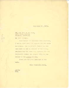 Letter from Crisis to Mr. & Mrs. E. M. Akin
