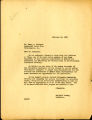 Acknowledgment letter of 1947 February 24