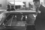 Thumbnail for Lucius Amerson sitting in his car after being sworn in at the Macon County courthouse.
