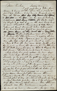 Incomplete letter from Maria Weston Chapman, [Boston?, Mass.], to Caroline Weston, Tuesday morning, [July 1845?]