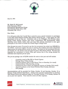 Letter from Bryant Gumbel to Mark H. McCormack