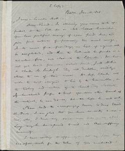 Copy of letter from William Lloyd Garrison, Boston, [Mass.], to James Mott and Lucretia Mott, Jan. 10, 1848