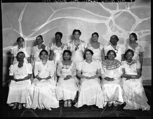 Mrs. Bailey's Eastern Star Group, 1941 [cellulose acetate photonegative]