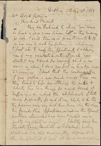 Letter from Richard Davis Webb, Dublin, [Ireland], to William Lloyd Garrison, 1862 October 28