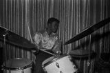 John Baldwin, a member of Bobby Moore and the Rhythm Aces, playing the drums at the Laicos Club in Montgomery, Alabama.