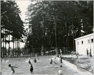 Children swim in an integrated pool