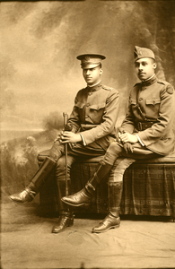 Unidentified officer and soldier